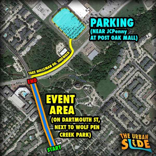 College Station Texas Slip N' Slide Event