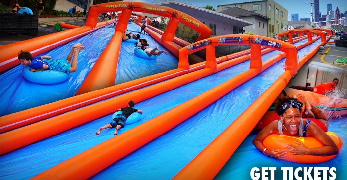 1,000 Ft Urban Slip N Slide - The Urban Slide